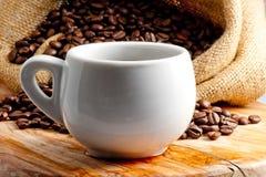热的杯子芳香咖啡 库存照片