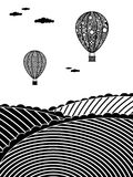 热的气球 库存照片