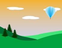 热的气球 库存例证
