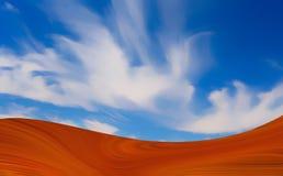 热的沙漠 免版税库存照片