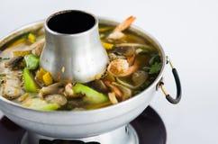 热的泰国咖喱海鲜 免版税库存图片
