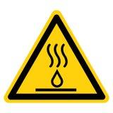 热的液体标志标志,传染媒介例证,在白色背景标签的孤立 EPS10 库存例证