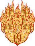 热的火样式 免版税图库摄影