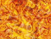 热的火纹理背景 免版税库存图片