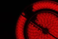 热的炽热板材 顶视图 黑色服务台 库存照片