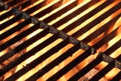 热的烤肉格栅 免版税库存照片