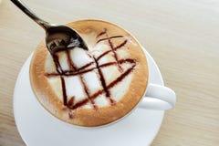 热的热奶咖啡,咖啡 库存照片