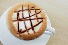 热的热奶咖啡,咖啡 库存图片