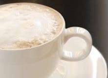 热的热奶咖啡 库存图片