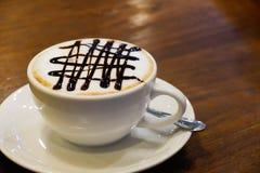 热的热奶咖啡 图库摄影