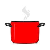 热的烹调罐例证 库存照片