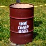 热的煤炭鼓 免版税库存图片