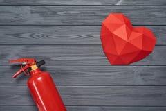 热的爱,灼烧的爱概念 库存图片