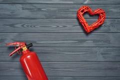 热的爱,灼烧的爱概念 免版税库存照片