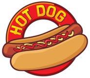 热的狗 向量例证