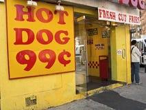 热的狗 库存照片