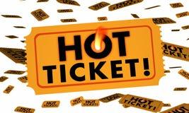 热的票入场事件党音乐会 库存例证