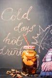 热的秋天饮料 库存照片