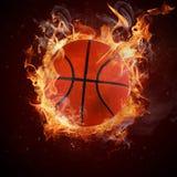 热的篮球 免版税库存照片