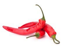热的红色辣椒或辣椒 库存照片