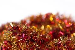 热的红色,黄色和橙色抽象圣诞节装饰背景 免版税库存图片