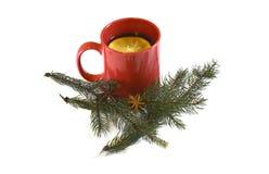 热的红色仔细考虑了圣诞节酒, 2014年11月14日 免版税库存图片