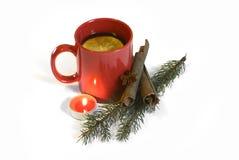 热的红色仔细考虑了圣诞节酒, 2014年11月14日 免版税库存照片