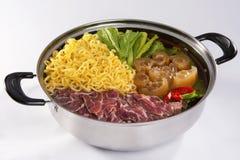 热的罐烹调在越南 免版税库存照片