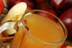 热的苹果汁 免版税库存照片