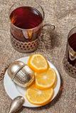 热的茶 库存图片