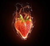 热的草莓 库存照片