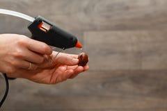热的融解枪 免版税库存图片