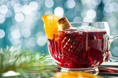 热的被仔细考虑的红葡萄酒 免版税库存图片