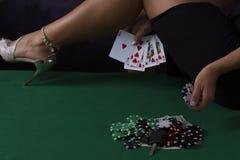 热的赌博娱乐场腿 库存照片