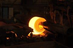 热的钢卷 免版税库存照片
