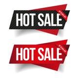 热的销售横幅丝带传染媒介集合 皇族释放例证