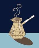 热的风味咖啡在图尔库 免版税库存图片