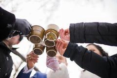 热的饮料冬天 免版税库存图片