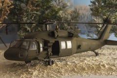 黑热的直升机 免版税库存照片