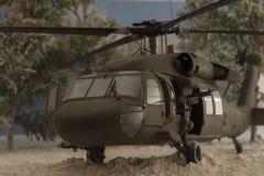 黑热的直升机 库存照片
