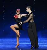 热的仑巴舞这奥地利的世界舞蹈 免版税库存图片