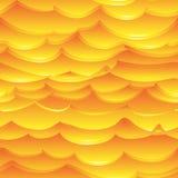 热的黄色和橙色海浪 免版税库存图片