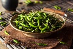 热的绿色泰国辣椒 库存图片
