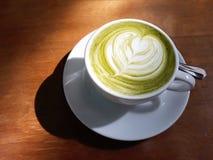 热的Matcha绿茶 免版税库存照片