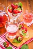热的strawberrys蜜饯 免版税库存图片