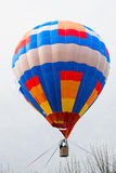 热空气在树上的气球篮子 免版税库存图片