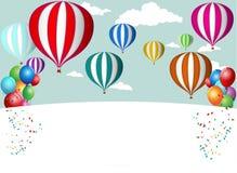 热空气气球庆祝 免版税图库摄影