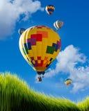 热空气气球。 免版税库存照片