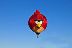 热空气气球恼怒的鸟 库存照片