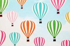 热空气气球样式纸 库存照片